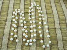 CH-ZAP0428 wholsale chain white dyed jade wire beaded dangle rosary chain,stone beaded chain
