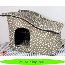 Pet heat folding bed, pet products heated beds, cheap dog houses