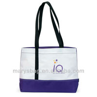 Linear Convention Tote Bag W/ Purple Accent