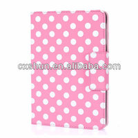 Dormancy case Cover for Apple New iPad with Built-in Stand Polka Dot Design case