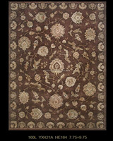 Luxury Room Art Persian Wool and Silk Carpet (160LYX421A HE164)