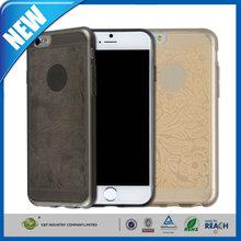 C&T Newest Elegant Plain Grain tpu pattern slim mobile phone case for iphone 6 plus