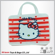 Custom logo printed canvas shoulder handbag
