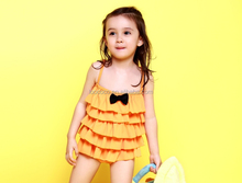2-8 years old Ruffle Bowknot Kids Swimwear Online Wholesale Swimwear