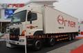 Hino 380 hpse utiliza japón van del cuerpo del carro, caja van 8*4 de camiones de alta calidad