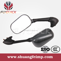 SF-1061 FLYQUICK black carbon mirror for sport motorcycle,competitive price for mirror for YAMAHA R6 FJR 1300