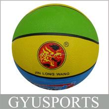 GY-D001 HOT SALE Rubber cheap balls basketball for Kids
