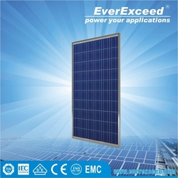 EverExceed 280w Polycrystalline Solar Panel for solar home system mounted in roof