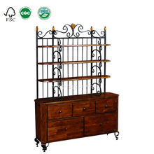 BF3005- Dining room maple solid wood Buffet with Hutch