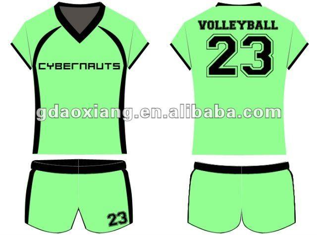 Nuevas mujeres del diseño de uniformes de voleibol para servicio del oem
