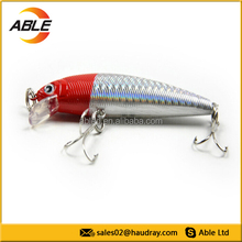 New fierce minnow lure with 3D eyes pike lure for winter fishing