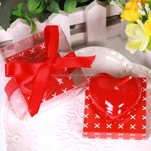 Most popular heart candle with Ribbon bow,manufacturer