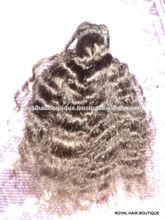 Venta al por mayor y natural 100% sin procesar virgen india cabello tejido