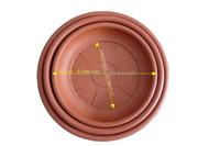 Hot sales plastic flower pot saucers plates for round pots