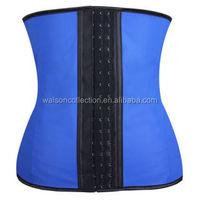 instyles 2015 100% latex waist trainer corset women bodyshapper sliming 3 hook long tosor