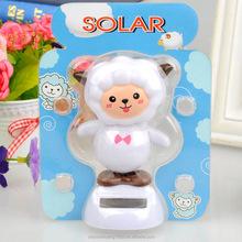 solar dancing doll swing solar goat magic cute flip flap solar doll car decoration factory wholesale
