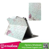 Brand New Butterflies and Peach Flower Glitter Powder Stand Leather Case for iPad mini 3 / for Galaxy Tab 4 7.0, Size: 200x135mm