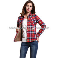 Personalized Design 100% Cotton Casual Shirts For Women