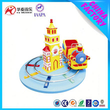 Coin operated lovely Christmas machine electric train hot sale in Australia market