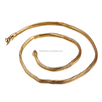 KSF factory direct wholesale fashion stainless steel india gold chains snake gold chain necklace