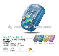 Universal charger with seven color flashing