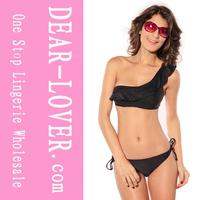Hot Sale Wholesale black sexy see-through bikini swimwear