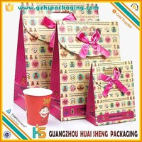 Birthday Party Gift Paper Bags& Wedding Door Gift Bags& Christmas patch handle Paper Bag