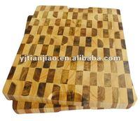 Wooden kitchen accessories rubber wood & acacia mix up end grain chopping boards cutting boards chopping blocks Schneidebrett