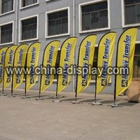 High Quality Flying Banner Car Flag Pole with Dye Sublimation Printing