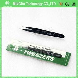 MINGDA ESD-15 Stainless Steel Tweezers/Curved Tweezers electronics repair tools for mobile phone