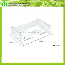 DDO-0001 Promotional Clear Acrylic Business Card Box,Business Card Plastic Box,Business Card Storage Box
