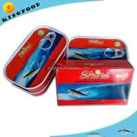 OEM best canned sardine brand lithograph printing canned sardine