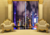2015 Hottest 3D Digital Printed curtain the Oriental Pearl Tower large photo print 100% shading blackout