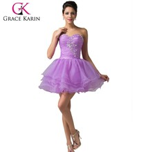 Grace Karin Sweetheart Beaded Cocktail Dress 2015 Sexy Short Cocktail Dresses CL6077-4