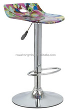 hot selling funky bar stool with modern pattern