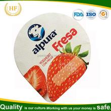 Cortado impresso folha de alumínio iogurte caps para copos de plástico de embalagem selo de calor amostra grátis