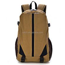 Hiking canvas backpack travel bag