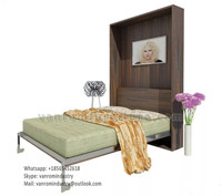 Contemporary murphy bed modern promotion single size with bookcase vanrom furniture