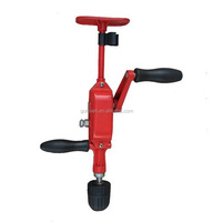 Double Pinion Two Speeds Cast Iron Body Three Jaw Portable Handheld Breast Drill Machine Mini Automatic Hand Manual Drill