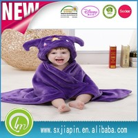 Factory100% polyester super soft touch anti-pilling polar/flannel fleece baby blanket, embroiedry snuggie blanket for baby