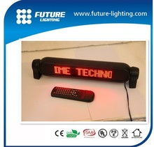 Red color 12v led car message moving scrolling sign display 7x50 dots