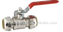 Nickle plated lead free quickfitting ball valves