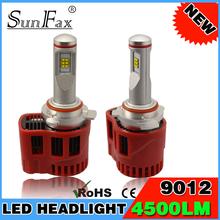 SUNFAX 6th Generation LED car headlight P6 45W 9000LM 9012 led headlight Adjustable LED auto kit