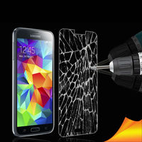 Full screen cover cell phone tempered glass screen protector for samsung galaxy s5