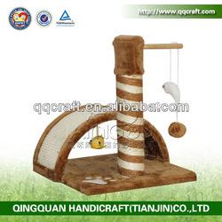 QQ Pet Manufacturer Cat Products Cat Scratching Post & Wooden Cat Scratcher & Sisal Cat Tree