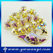 Latest Excellent import product thailand jewel one jewellery peacock brooch