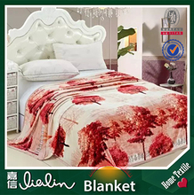 Laster New design popular and fashion european style polyester fabric blanket on sale