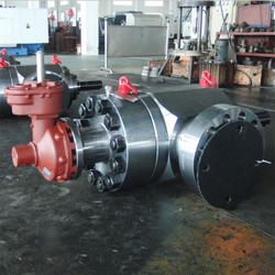 5inch 5000PSI PFF FORGED GATE VALVE,API 6A GEAR OPERATED RISING STEM TWO WAY VALVE