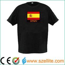 Comfortable and soft equalizer black el lighting t shirt