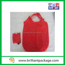 custom nylon colourful foldable promotional shopping bags with a pocket
